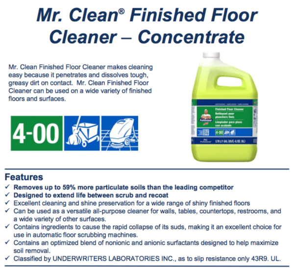 Procter Amp Gamble Mr Clean Finished Floor Cleaner Closed