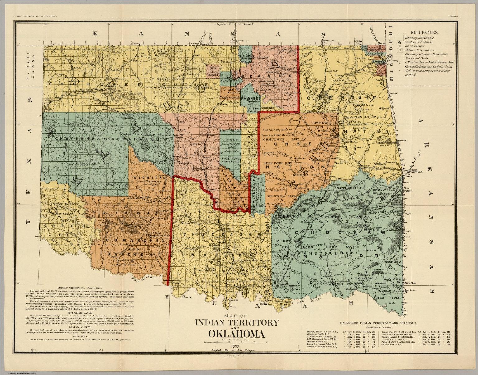 oklahoma indian territory1890 28