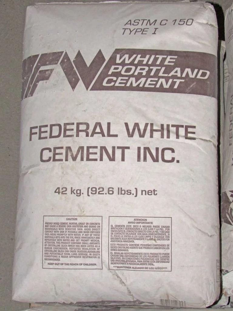 White Portland Cement 94lb Capitol City Lumber