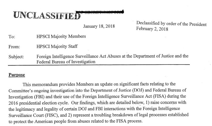 Foreign Intelligence Surveillance Act Abuses
