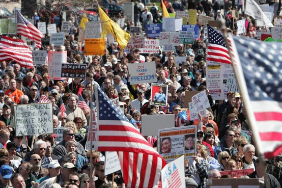 The tea party in its glory days  (AP Photo/ Al Goldis)
