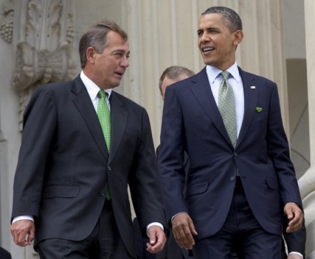 Speaker John Boehner and President Barack Obama (AP Photo/Carolyn Kaster, File)