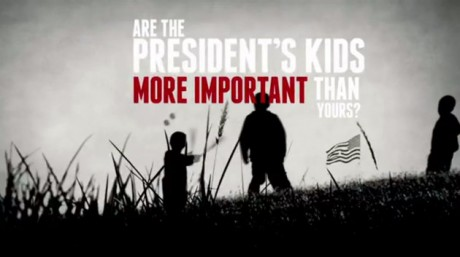 Screen grab of NRA ad