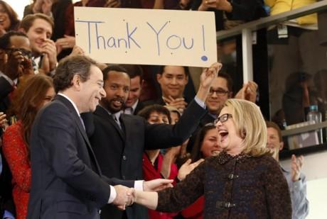 Hillary Clinton says farewell