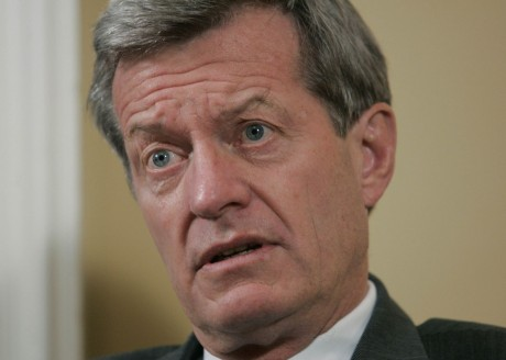 Sen. Max Baucus, D-Mont., is interviewed on Capitol Hill in Washington. Baucus says he opposes a Democratic gun-control bill but won't block a debate on the legislation. (AP Photo/Pablo Martinez Monsivais, File)