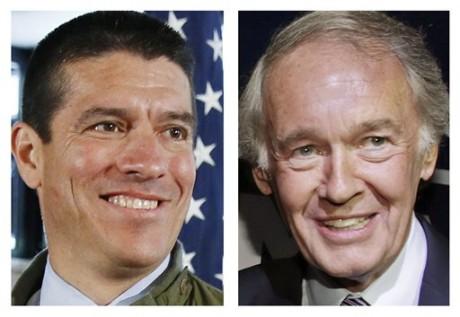 Republican Gabriel Gomez, left, and Democrat U.S. Rep. Ed Markey