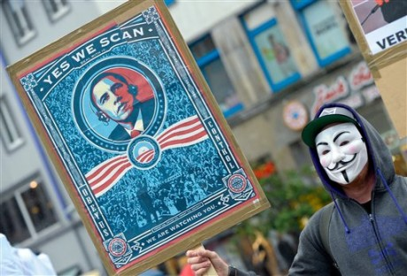 Demonstration against internet surveillance