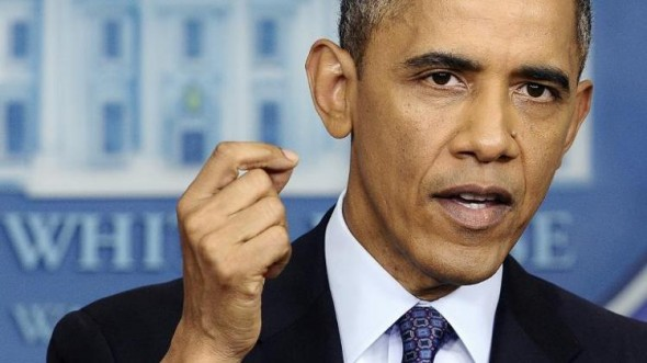 President Barack Obama answers a question during a press conference at the White House. (AFP Photo/Jewel Samad )