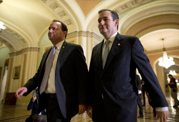 Unrepentant GOP Senators Mike Lee (Utah) and Ted Cruz (Texas) (AP/Evan Vucci)