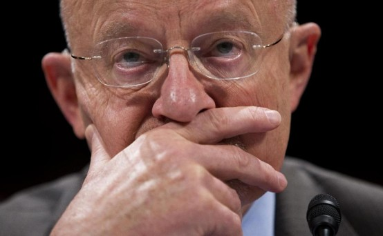 James Clapper, director of National Intelligence, testifying on Capitol Hill Tuesday. (AP/Evan Vucci)