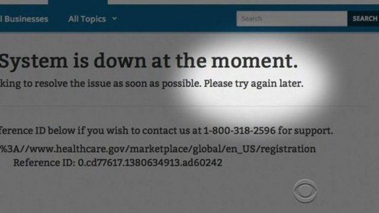 Obamacare's constantly-crashing web site.