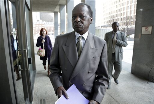 Onyango Obama, President Barack Obama's Kenyan-born uncle, arrives at U.S. Immigration Court for a deportation hearing Tuesday in Bostol. (AP Photo/Steven Senne)