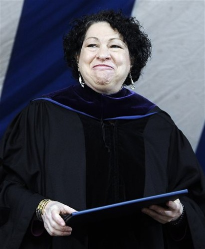 File-In this May 20, 2013,  file photo, Supreme Court Justice Sonia Sotomayor. (AP Photo/Jessica Hill)