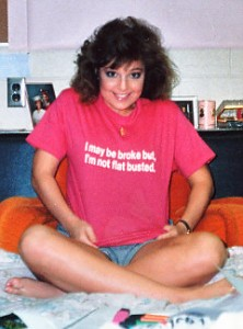 Palin in college.