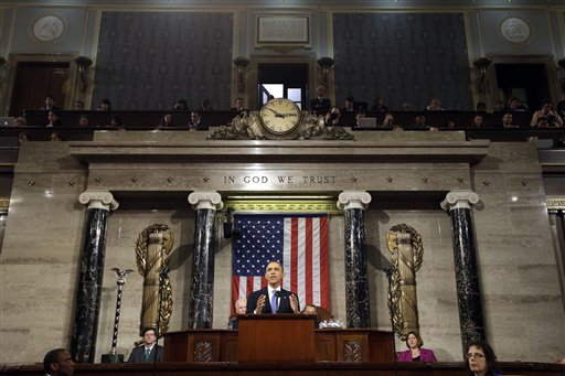 President Barack Obama gives his State of the Union address last year. (AP Photo/Charles Dharapak)