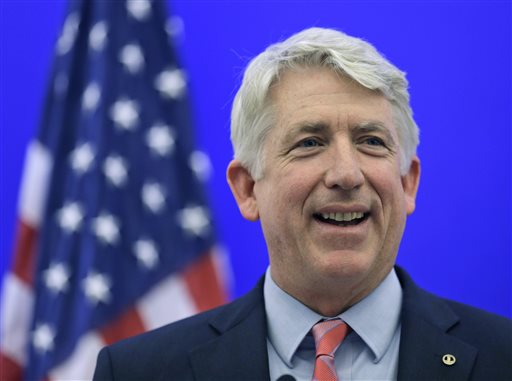 FILE - In this Dec. 18, Virginia Attorney General-elect Mark Herring.  (AP Photo/Steve Helber, File)