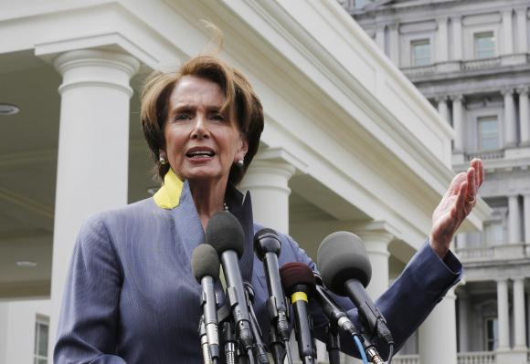 U.S. House Minority Leader Nancy Pelosi.          (REUTERS/Larry Downing)