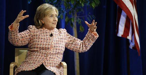 Former Secretary of State Hillary Rodham Clinton (AP Photo/Stephan Savoia)