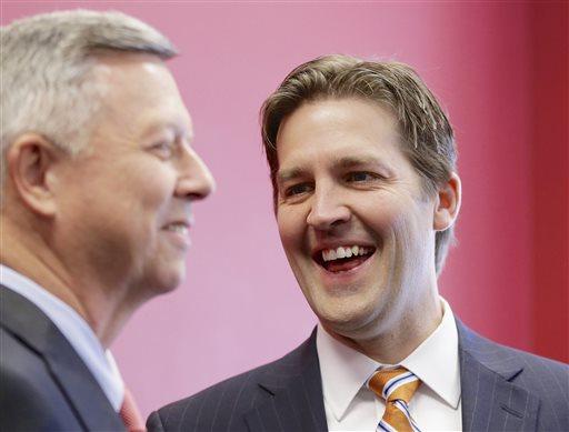 Republican Senate candidate Ben Sasse, with Neb. Gov. Dave Heineman.  (AP Photo)