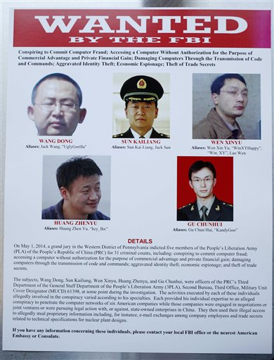 The wanted poster (AP Photo)