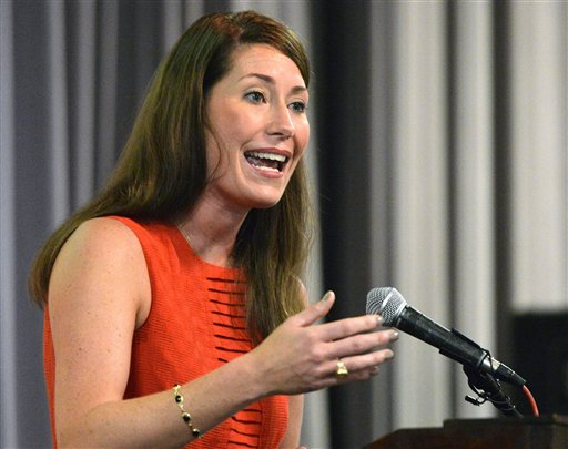 Kentucky Democratic Senate candidate Alison Lundergan Grimes (AP Photo/Timothy D. Easley)