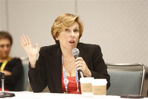 American Federation of Teachers President Randi Weingarten  (AP Photo/Damian Dovarganes)