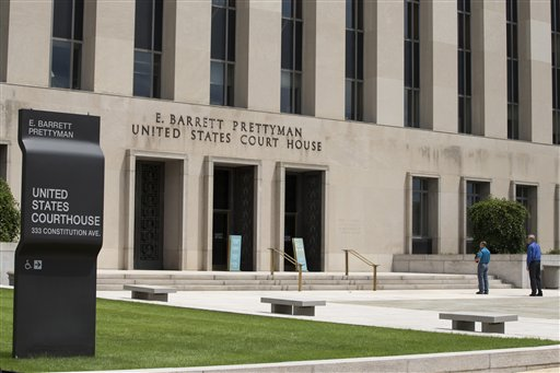 E. Barrett Prettyman Federal Courthouse that houses the U.S. Court of Appeals for the D.C. Circuit  (AP Photo/ Evan Vucci)