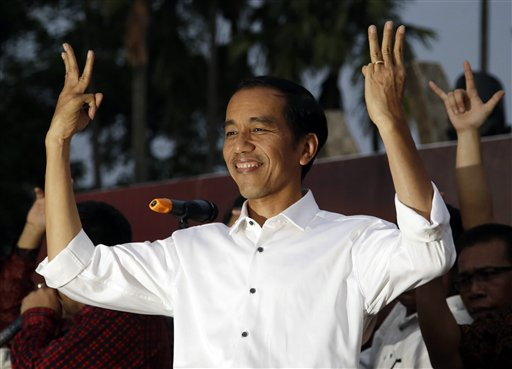 Indonesian president-elect Joko Widodo (AP Photo/Dita Alangkara)