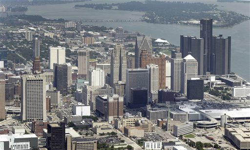 The downtown of the city of Detroit (AP Photo/Paul Sancya)