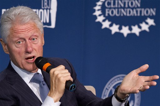 Former President Bill Clinton  (AP Photo/Jacquelyn Martin)