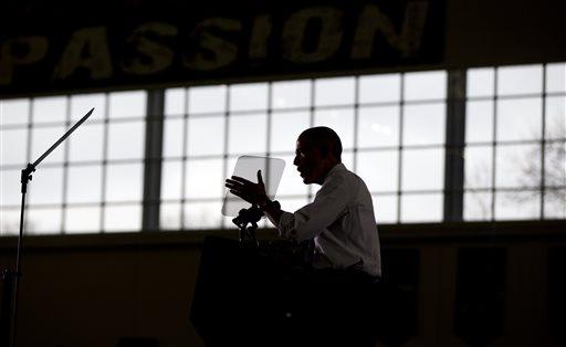 President Barack Obama speaks at Boise State University (AP Photo/Carolyn Kaster)