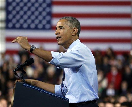 President Barack Obama: I am, therefore I veto.  (AP Photo/Charlie Riedel)