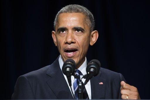 President Barack Obama speaks during the National Prayer Breakfast in Washington. (AP Photo/Evan Vucci)