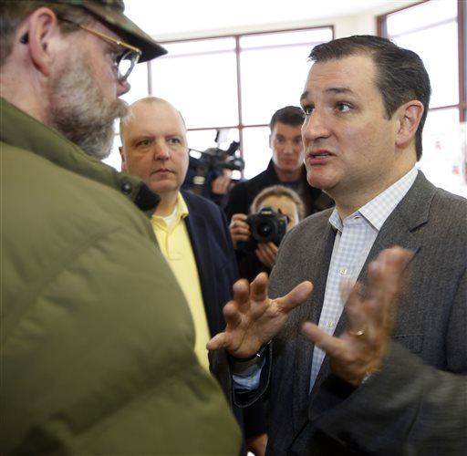 Sen. Ted Cruz, R-Texas, a tea party favorite and possible presidential candidate in 2016.  (AP Photo/Jim Cole)