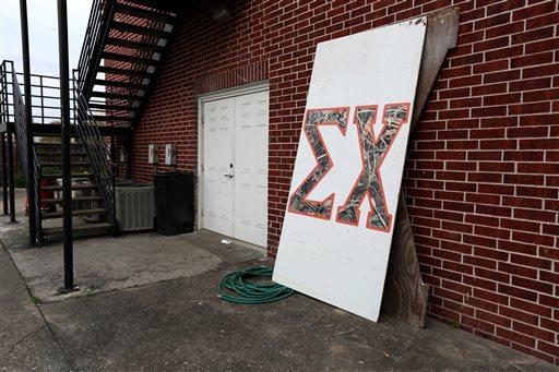 Sigma Chi fraternity house after the University of Houston suspended the fraternity. (AP Photo/Houston Chronicle, Gary Coronado)
