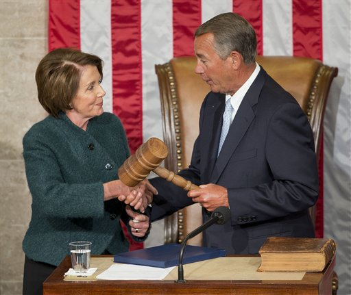 House Minority Leader Nancy Pelosi and Speaker John Boehner of Ohio  (AP Photo/Pablo Martinez Monsivais)
