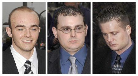 Blackwater Worldwide security guards Nick Slatten (L), Dustin Heard (C) and Evan Liberty (R). (REUTERS/Jonathan Ernst/Files)