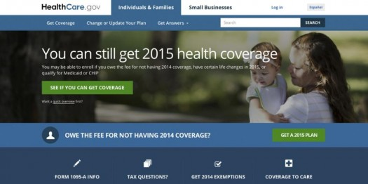 A portion of the HealthCare.gov Website.  (AP Photo/HHS)