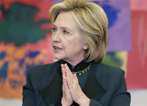 Democratic presidential candidate Hillary Rodham Clinton. (AP Photo/M. Spencer Green)
