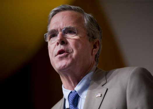 Republican presidential candidate former Florida Gov. Jeb Bush speaking during the Road to Majority 2015 convention in Washington.  (AP Photo/Pablo Martinez Monsivais)