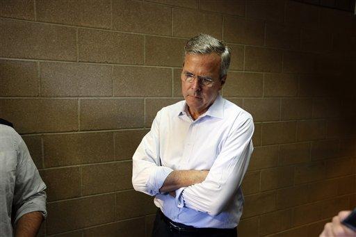 Republican presidential candidate, former Florida Gov. Jeb Bush.  (AP Photo/John Locher)