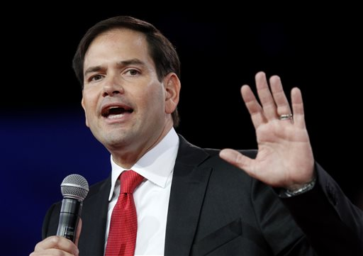Republican presidential candidate, Sen. Marco Rubio, R-Fla., speaks at the Defending the American Dream summit hosted by Americans for Prosperity at the Greater Columbus Convention Center in Columbus, Ohio, Saturday, Aug. 22, 2015. (AP Photo/Paul Vernon)