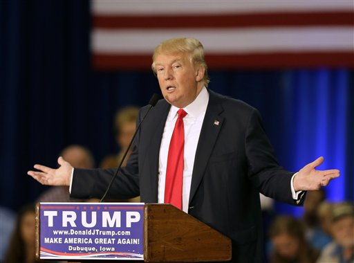 Republican presidential candidate Donald Trump. (AP Photo/Charlie Neibergall)