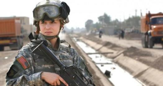 Women in combat, except wit the Marines.