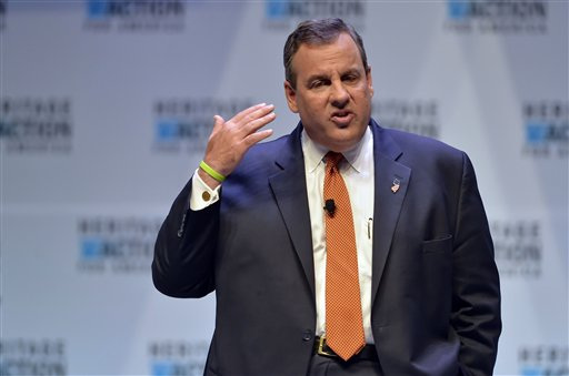 FILE - In this Sept. 18, 2015 file photo, Republican presidential candidate, New Jersey Gov. Chris Christie speaks in Greenville, S.C. Scott Walker gave up on his 2016 presidential ambitions this week by imploring other Republicans in the crowded field to follow his lead and drop out so that one could rise to challenge front-runner Donald Trump. None appears likely to do so anytime soon.(AP Photo/Richard Shiro, File)