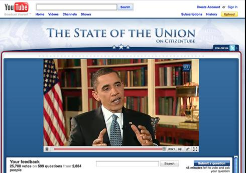 Using YouTube to reach more viewers of State of the Union.