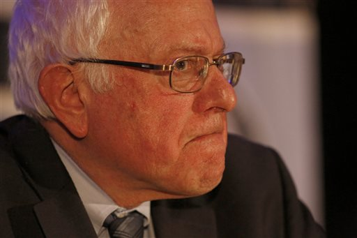 Democratic presidential candidate Sen. Bernie Sanders, I-Vt., speaks during the First in the South Dinner at the Charleston Mariott Saturday, Jan. 16, 2016, in Charleston, S.C. (AP Photo/Mic Smith)