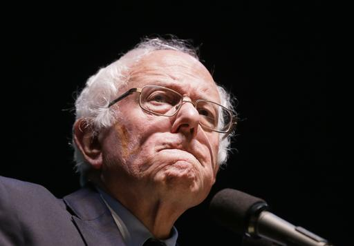 Democratic presidential candidate, Sen. Bernie Sanders, I-Vt, speaks during a rally at Michigan State University, Wednesday, March 2, 2016, in East Lansing, Mich. (AP Photo/Carlos Osorio)