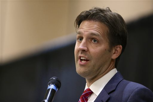 "FILE - In this Oct. 22 2014 file photo, then-Nebraska Republican Senate candidate, now Sen. Ben Sasse, R-Neb. speaks in Lincoln, Neb. Sasse drew scorn and even threats from Donald Trump's supporters after he tweeted a series of critiques and questions about the Republican presidential front-runner in January 2016. Undaunted, the freshman GOP senator has posted an online video in which he read aloud a litany of ""mean tweets"" about himself. (AP Photo/Nati Harnik, File)"