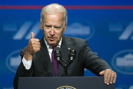 Vice President Joe Biden addressing the White House Summit on the United State of Women in Washington.  (AP Photo/Cliff Owen)